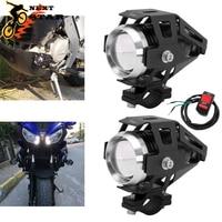 12 v faróis da motocicleta farol auxiliar u5 led spotlight acessórios moto ponto cabeça luzes lâmpada canhão à prova dwaterproof água 125w   -