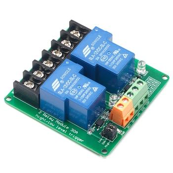 Módulo de relé de 2 vías, 30A, alto y bajo, activador por flanco, 5V, control de automatización del hogar inteligente 2