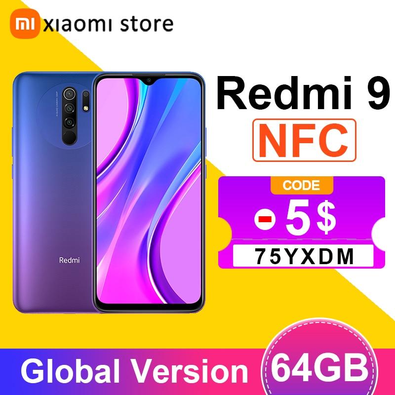 Xiaomi Redmi 9 4GB 64GB смартфон глобальная версия Helio G80 Octa Core 13MP Quad камера 6,53