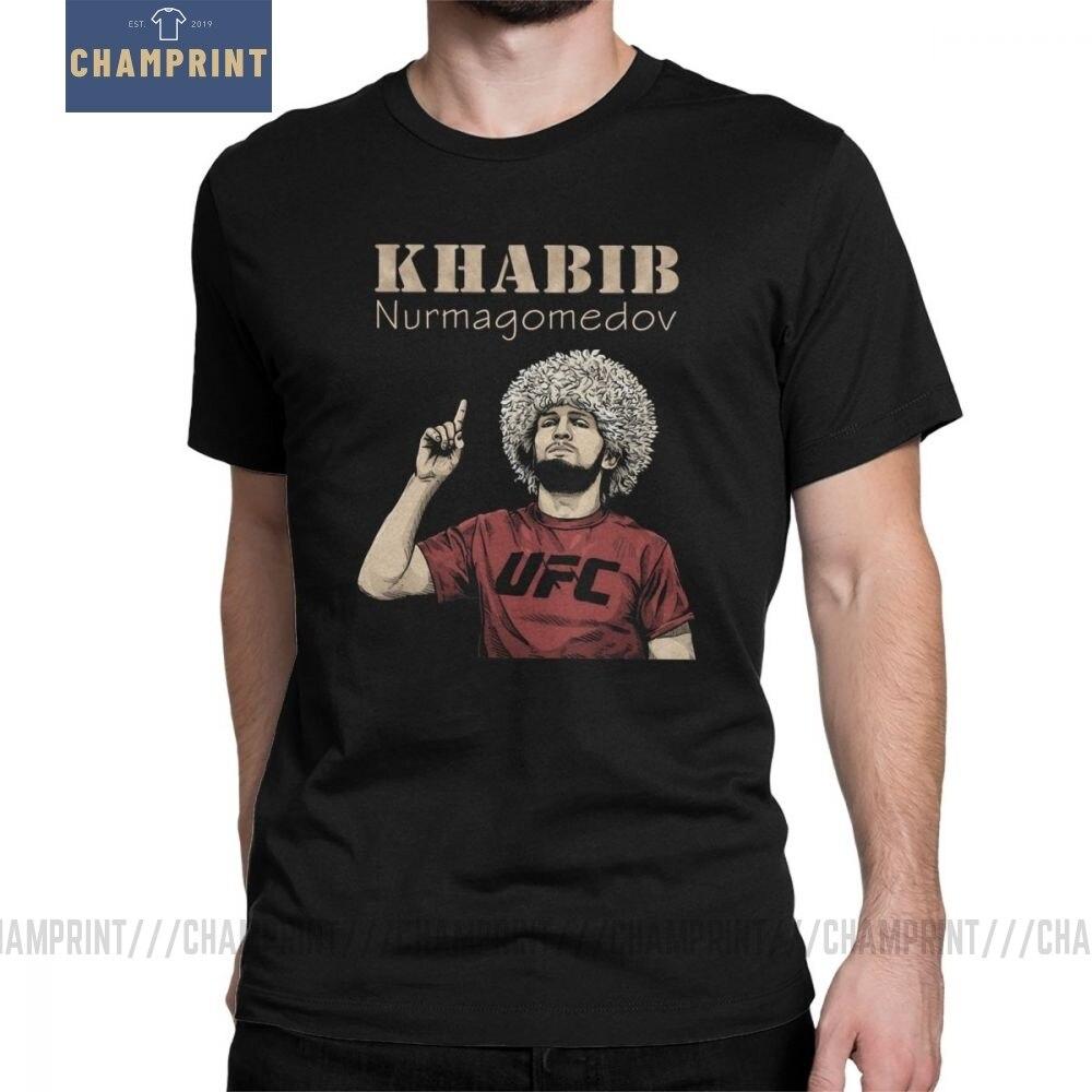 Men Khabib Nurmagomedov Boxing T-Shirt 229 Boxing Leisure Round Neck Short Sleeve Tops 100% Cotton Tees Summer T Shirt