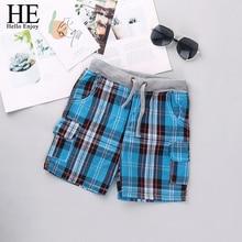 Boys Shorts Plaid Trousers Pants Chothing Kids Children Summer Fashion Enjoy HE Hello