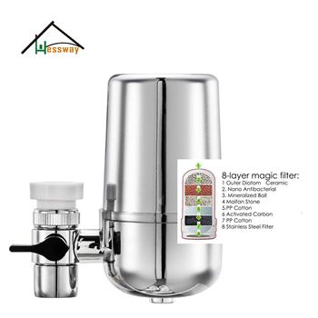 8 Layer Purification Ceramics tap water processing system Tap Water Purifier for 6L Household  Kitchen Removal Rust Bacteria - discount item  44% OFF Household Appliances