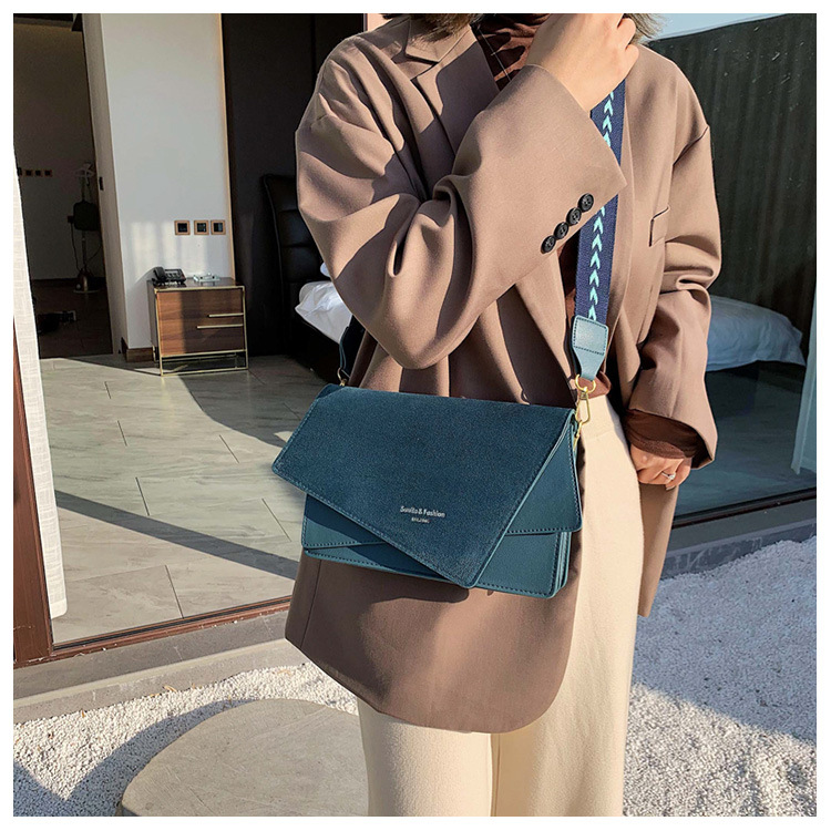 Brand Originality Design Handheld Frosted  bag women 2021 new version of Joker shoulder slung fashion broadband small square bag