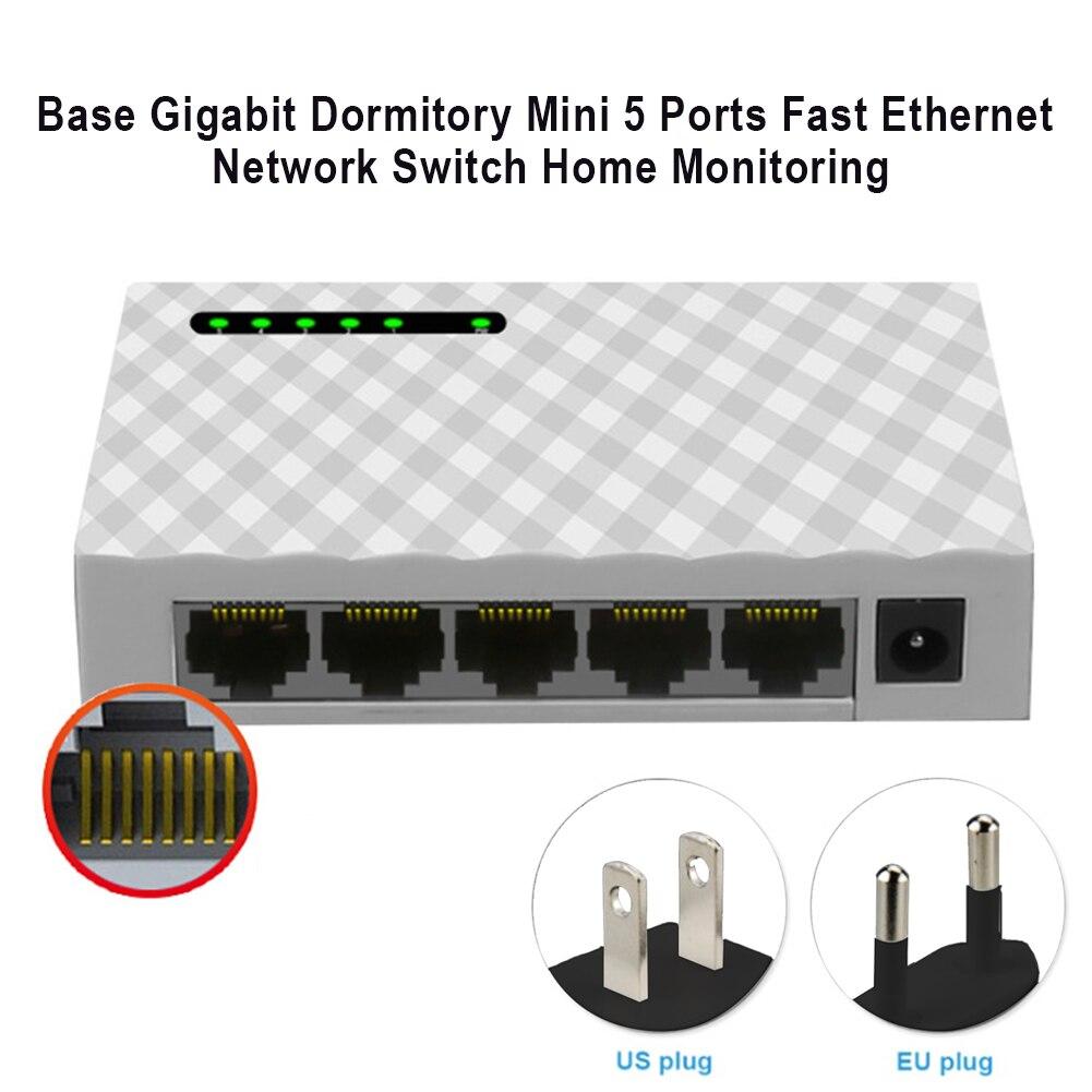Exchange Network 5-Port Ethernet Hub Gigabit Desktop Mini Adapter LAN Switch