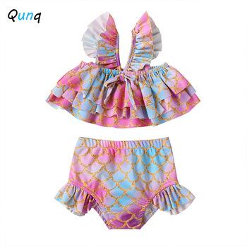 Qunq letnie dziewczynek stroje kąpielowe dwuczęściowy drukuje dzieci stroje kąpielowe dla 1 2 3 4 5 rok dziewczyny maluch dzieci stroje kąpielowe tanie i dobre opinie qunque CN (pochodzenie) dla dziewczynek W wieku 0-6m 7-12m 13-24m 25-36m 3-6y COTTON POLIESTER Lato Dobrze pasuje do rozmiaru wybierz swój normalny rozmiar