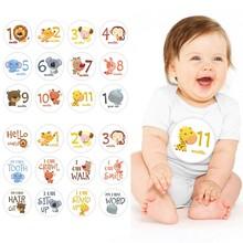 Pegatina de 12 Uds. Fotografía de bebé de meses para, hito conmemorativo mensual para niños recién nacidos, tarjeta conmemorativa, accesorios para fotos con números