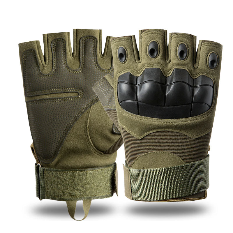 Outdoor Tactical Fingerless Gloves Military Army Protective Riding Sports Training Half Finger Gloves Bicycle Motorcross Gloves