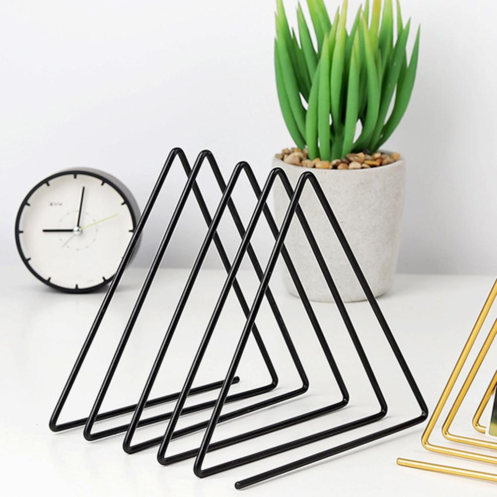Nordic Style Triangle Bookshelf Document Newspaper 9 Slot Book Stand Rack Holder