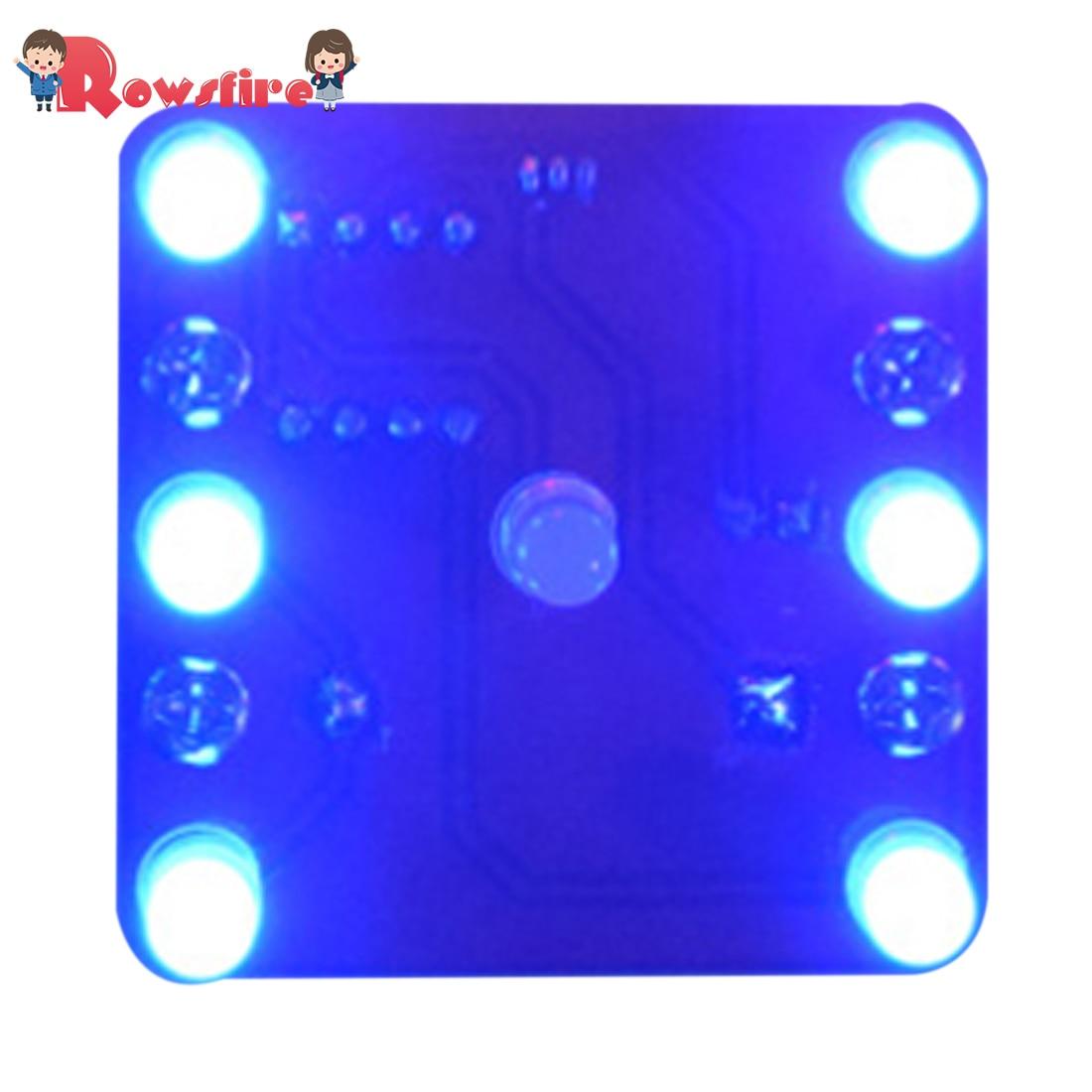 DIY Swing Shaking Vibration LED Dice Module Kit - Blue