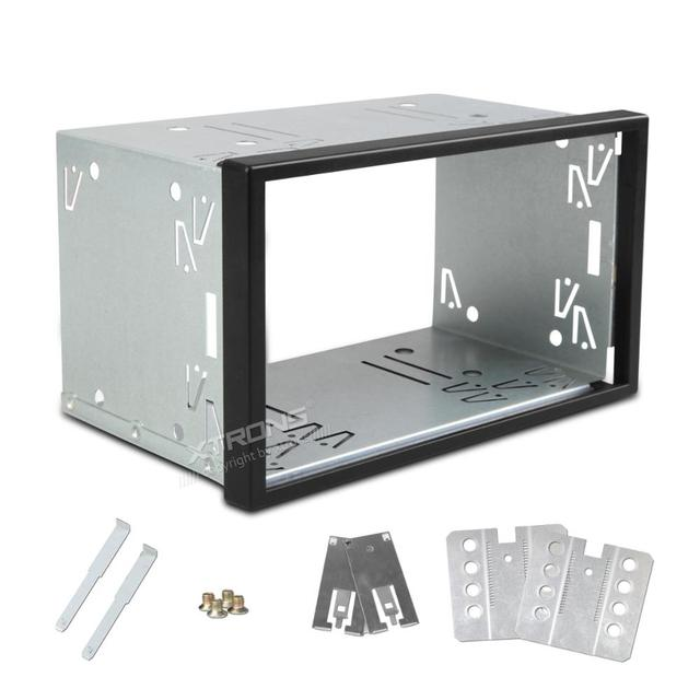 XTRONS 14 003A Universal Auto Headunit Cage Fascia Framework Dash CD Surround Fitting Kit Facia Panel Double DIN Stereostereo illusionsdin socketdin fittings