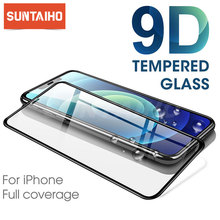 9D Curved Protective Tempered Glass For iPhone 11 12 pro Xs Max XR XS X Glass Screen Protector on iPhone 7 8 6s 6plus Glass Film