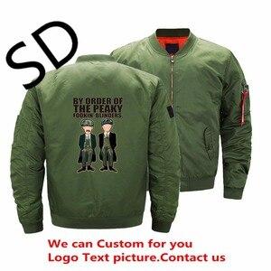 Dropshipping eua tamanho peaky blinders jaqueta homens filme bomber jaquetas e casacos streetwear 3d impresso inverno personalizado topos 5xl