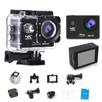 цена на 1080P 4K Wifi Action Camera 2 inch LCD Screen Outdoor GO Waterproof PRO Diving Sports Camera Support 32G TF Card