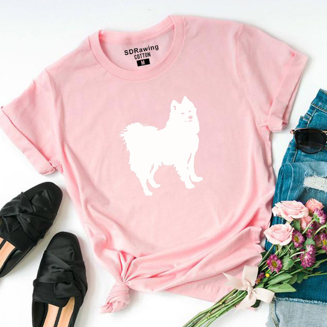 Casual Loose Dog Printed T-Shirt