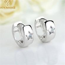 XIYANIKE 925 de plata esterlina coreano nuevo estilo de cinco puntas de la estrella de circonita pendiente mujer temperamento venta al por mayor de joyería de moda regalo