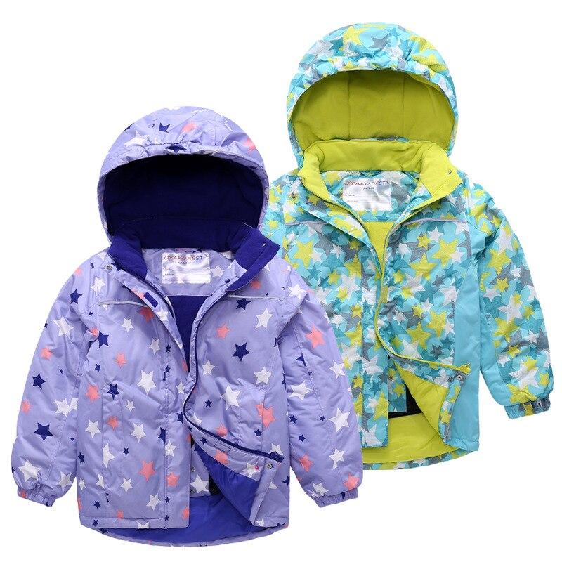 Outdoor Children BOY'S Girls Big Boy Waterproof Cotton Coat Raincoat Jacket Ski Suit Baby Coat Hooded Fleece Thick