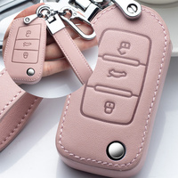 Leather Car Key Cover Case  5