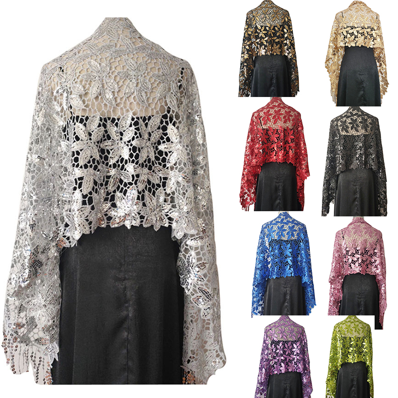 10 Colors Sequin Wedding Cape Shawls And Wraps Ladies Prom Evening Dress Cape Bolero Femme Wedding Party Shrug For Women