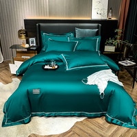 Black silkly egyptian cotton Bedding Sets Bed Linen Duvet Cover with comforter fitted sheet Pillowcase queen king size 5pcs