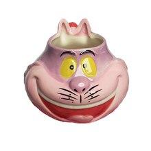 350ML Cartoon Alice Cheshire Katze Kaffee Becher Kreative Keramik Wasser Tasse 3D tier tassen kaffee tassen Geburtstag Geschenk Für kinder NEUE