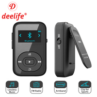Deelife Sport Bluetooth MP3 Player Digital 8GB Clip Mini Portable with Screen Recorder FM Radio Support TF Card MP 3 Music Play