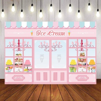 Mehofond Photography Background Ice Cream Candy Shop Theme Party Sweet Birthday Children Photophone Backdrop Decor Photo Studio - discount item  43% OFF Camera & Photo