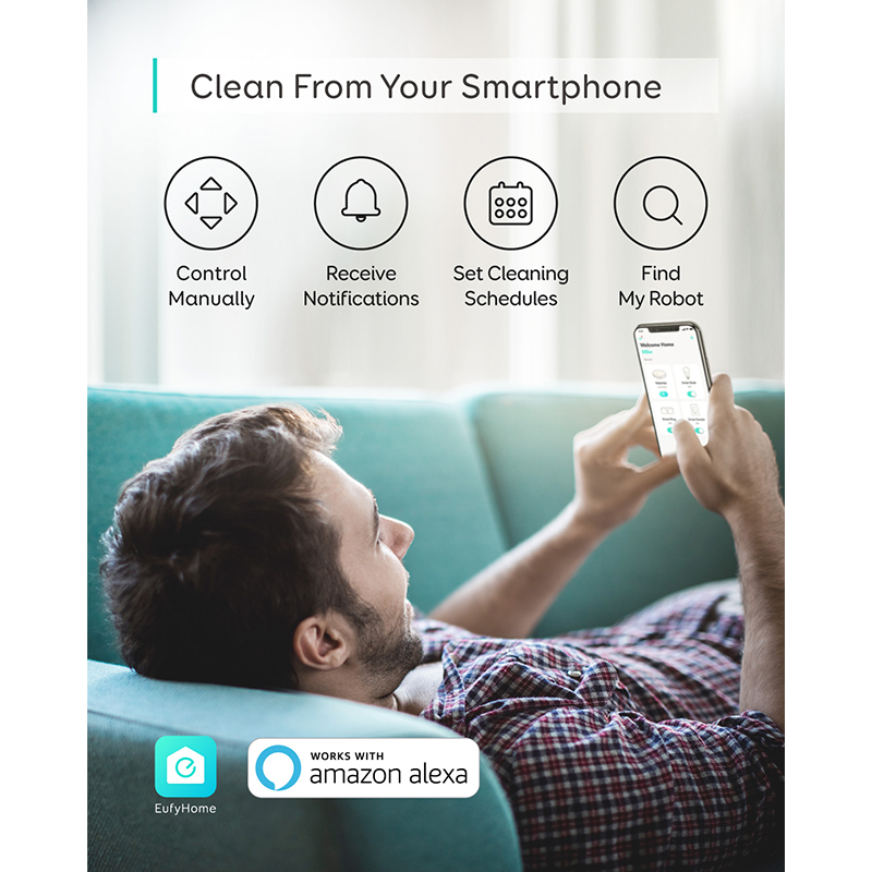 eufy [BoostIQ] RoboVac 15C, Wi-Fi, Super-Thin, 1300Pa Strong Suction Quiet, Self-Charging Robotic Vacuum Cleaner 3
