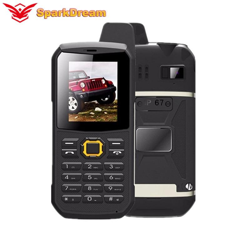 "SUPPU F68 IP67 WaterProof Mobile Phone Power Bank 2.2"" Shockproof Loud Speaker Strong Flashlight 2400MAH Outdoor Rugged Phone"
