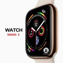 50% off Smart Watch Series 5 смарт-чехол для apple iPhone Android смартфон монитор сердечного ритма, педометр (красная кнопка)