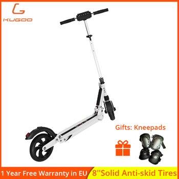 KUGOO-patinete eléctrico para adulto, scooter plegable con Motor de 350W, 8,5 pulgadas,...