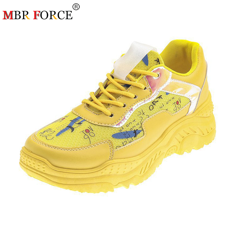 MBR FORCE Sneakers women's shoes flat sneakers straps casual comfortable thick bottom ladies sneakers