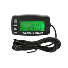 Digital Tachometer Waterproof Backlit Tach Hour Meter for 2/4 Stroke Engines High Quality