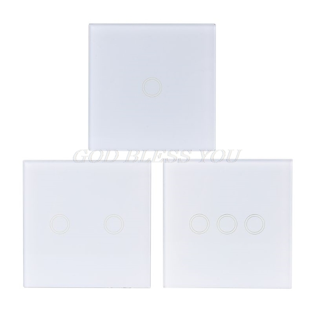 433MHZ 86 Type Wireless Glass Panel Remote Control Wall Touch Switch RF Controller Sticker For Home Room LED Light Lamp Supplies