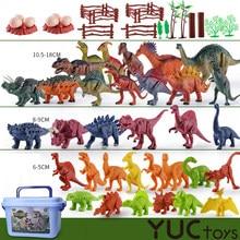 104 pçs dinossauros figuras modelo de brinquedo velociraptor brachiosaurus tyrannosaurus modelo brinquedos dragão selva coleção animais presentes
