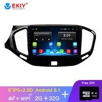 EKIY 9'' IPS Car Radio For LADA Vesta Cross Sport 2015 2019 Multimedia Video Player Navigation GPS Android 8.1 No 2din 2 Din