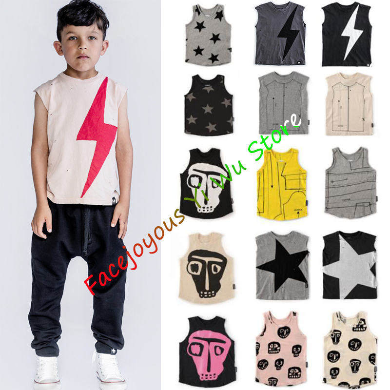 Kids Vest 2020-NU-SS Toddler Baby Boy Girl Sleeveless T-shirts Tees Cotton Undershirt Summer Fruit Print Infant T-shirt Vests