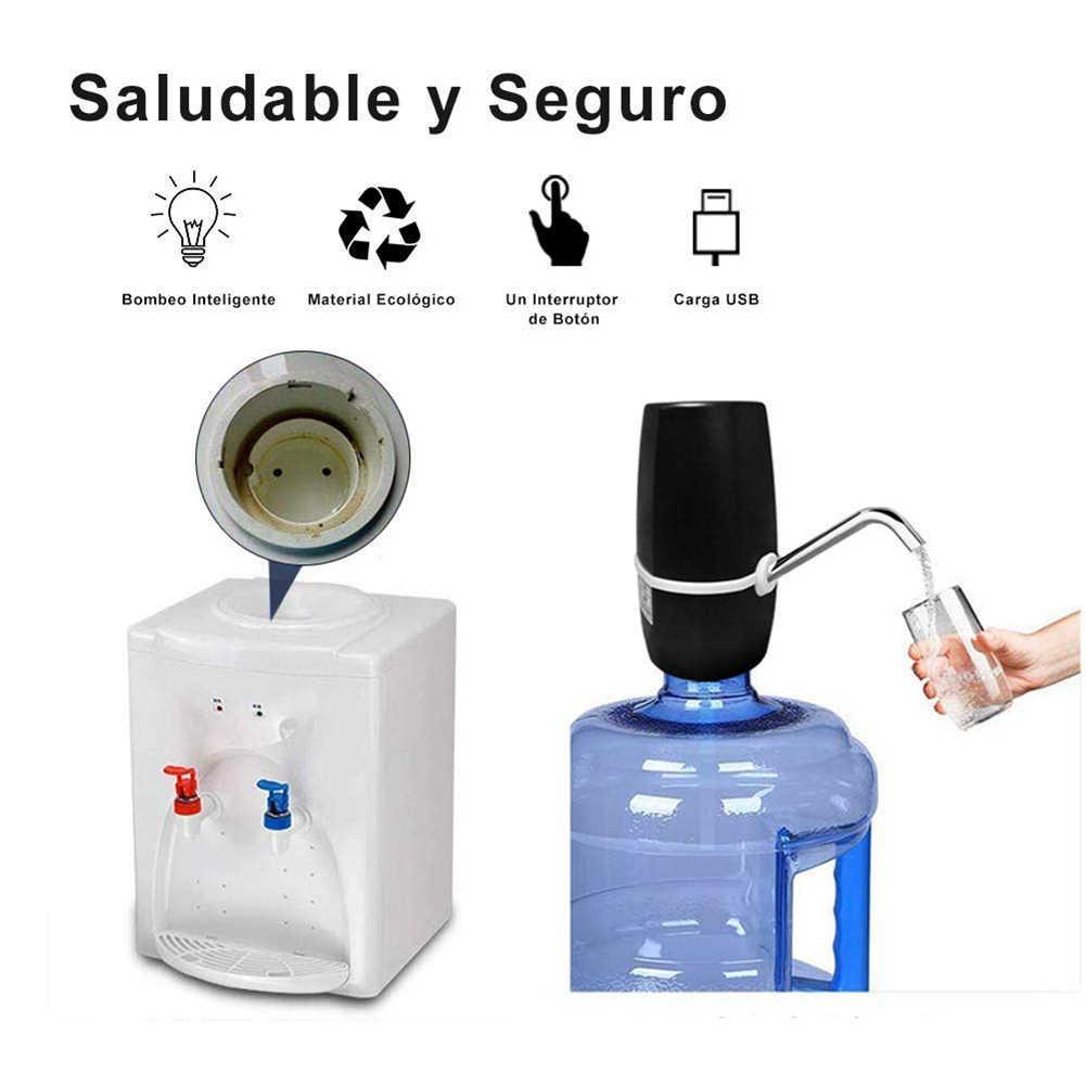 المحمولة الإلكترونية زجاجة المياه مضخة لاسلكية USB مشحونة الكهربائية موزع مياه مضخة اليد الصحافة مضخات المياه مكتب المنزل