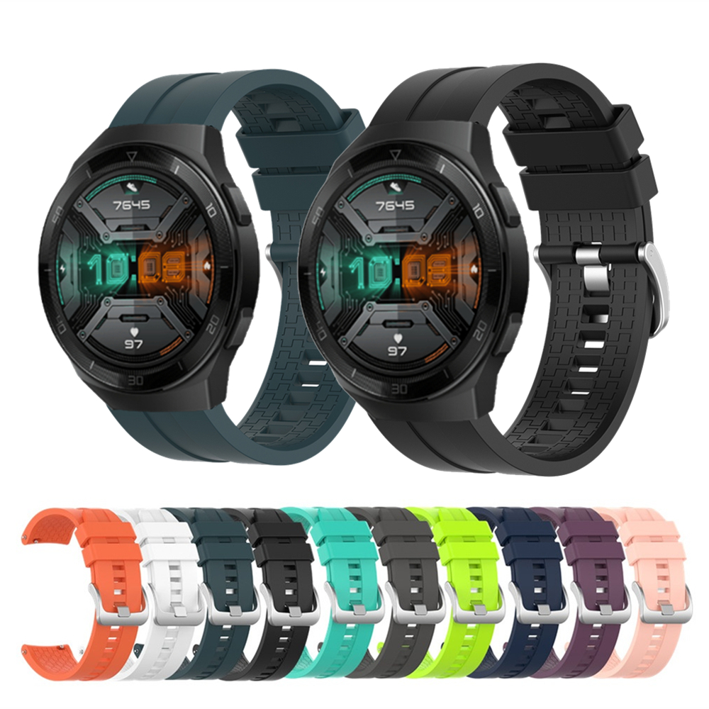 Silicone Watch Strap For Huawei Watch GT 2e Bracelet Band Sport Wrist Strap For Huawei GT2 / GT 46mm Wristband For Honor Magic 2