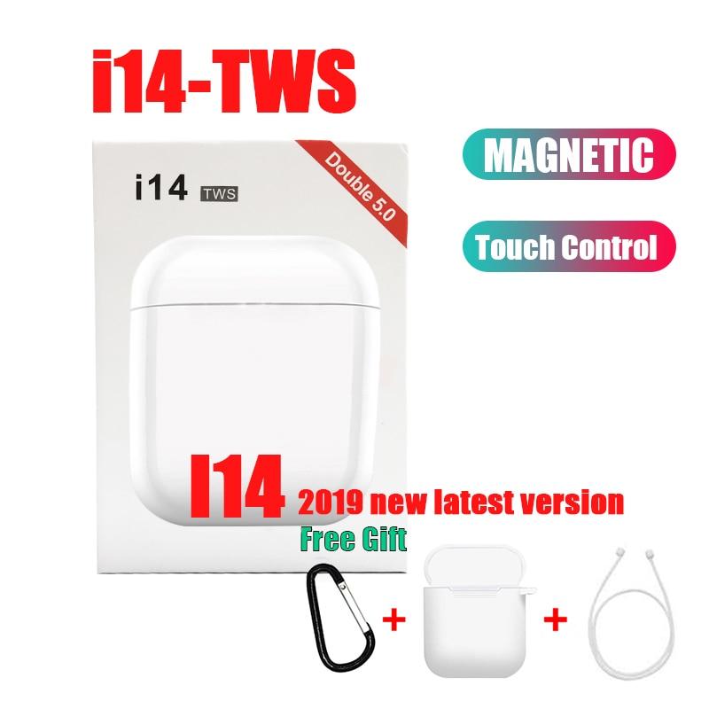 Original i14 tws auriculares in-ear inalámbrico fone Bluetooth 5,0 auriculares Control táctil deporte para iphone audifonos elari i200
