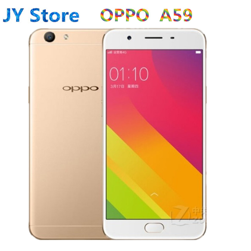 """Global Version Oppo A59 4G LTE Cell Phone MTK6750 Octa Core Android 5.1 5.5"""" IPS 1280X720 3GB RAM 32GB ROM 13.0MP Fingerprint 1"""