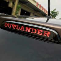 Voiture haute feux de freinage lampe décorative couverture autocollants pour Mitsubishi Outlander 2013 2014 2015 2016 2017 2018 2019 accessoires