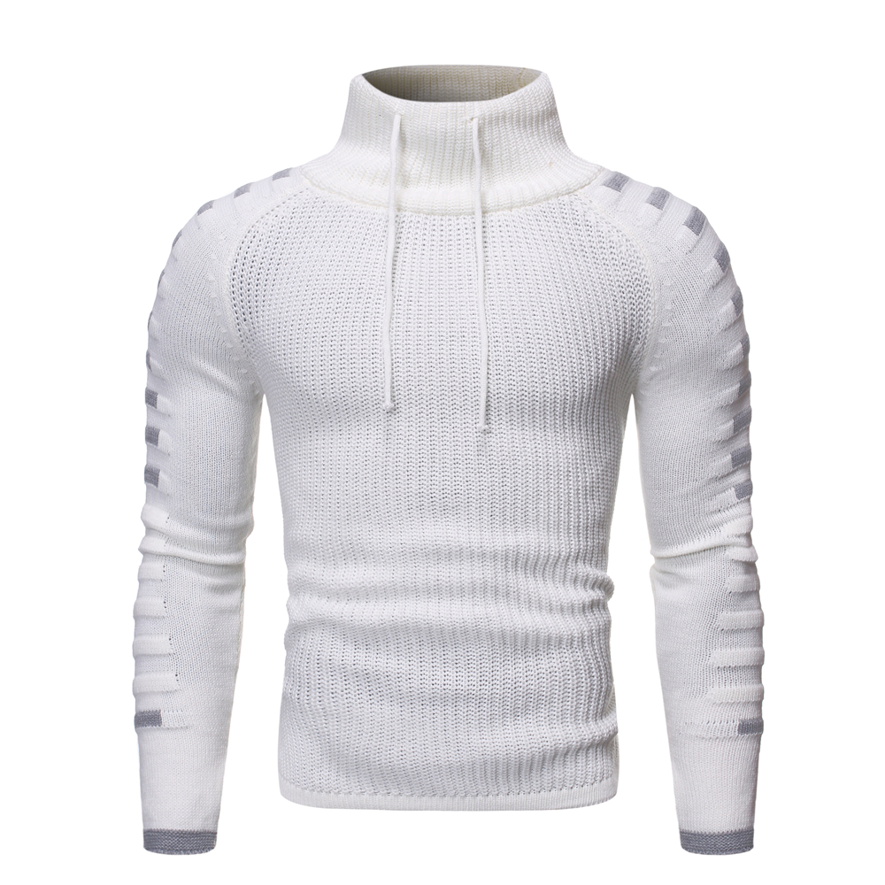 2019 New Style Men Autumn And Winter Set Head Sweater High Collar Personality Leisure Knit