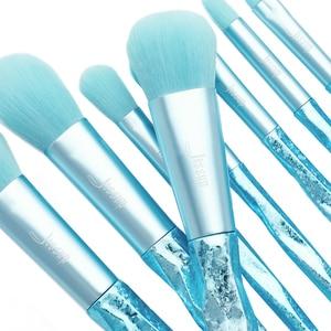 Image 5 - Jessup Make up brushes 8pcs Glacier Blue Blush Powder Eyeshadow Foundation brush Pencil Plastic handle