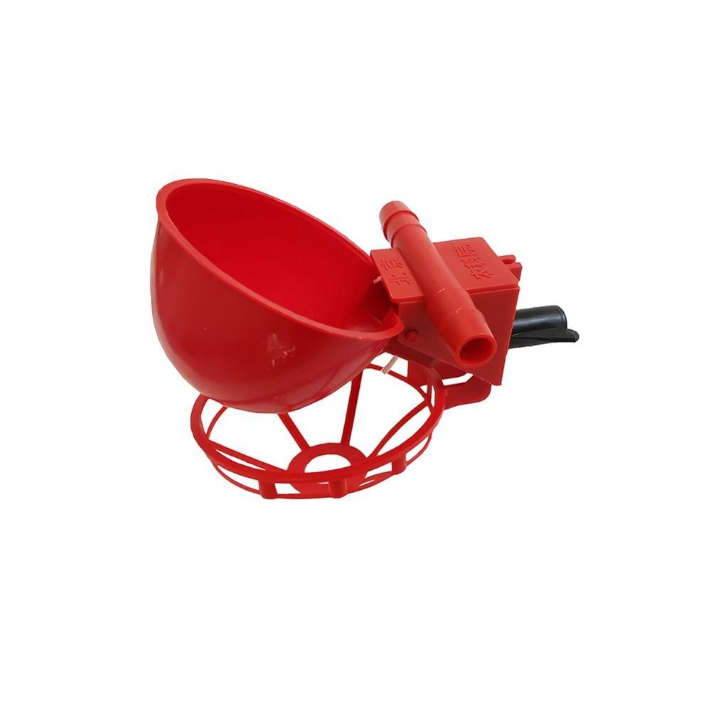 10 Pcs Poultry Water Drinking Cups Bird Coop Fowl Drinker Chicken Hen Plastic Drinker Bowl Animal Feeders Automatic