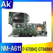 NM-A611 for Lenovo Thinkpad T460P notebook motherboard i7 6700HQ GPU GT940M FRU 01YR856 01HX091 01AV878 01YR858 01HX093(China)