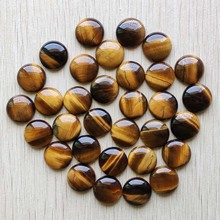 цена на High quality natural tiger eye stone round cabochon 18mm beads for jewelry Accessories making wholesale 30pcs/lot free shipping