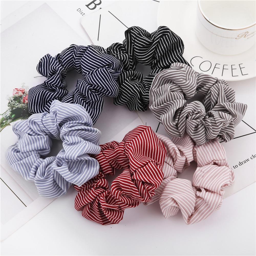 1PC 2019 Women Spring Elegant Elastic Hair Bands Ponytail Holder Scrunchies Tie Hair Rubber Band Headband Lady Hair Accessories