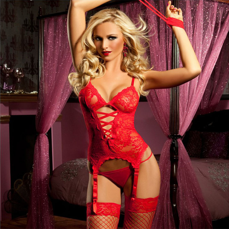 Sexy Lingerie with handcuffs G-string plus size erotic SM cosplay costume sexy nightclubs clothes erotic underwear 1