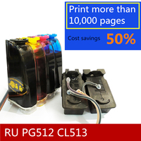 5 Star Products in Russia PG 512 CL 513 Ink System PG 512 CL 513 compatible For Canon PIXMA MP250 MP280 MX320 MX340 IP2700