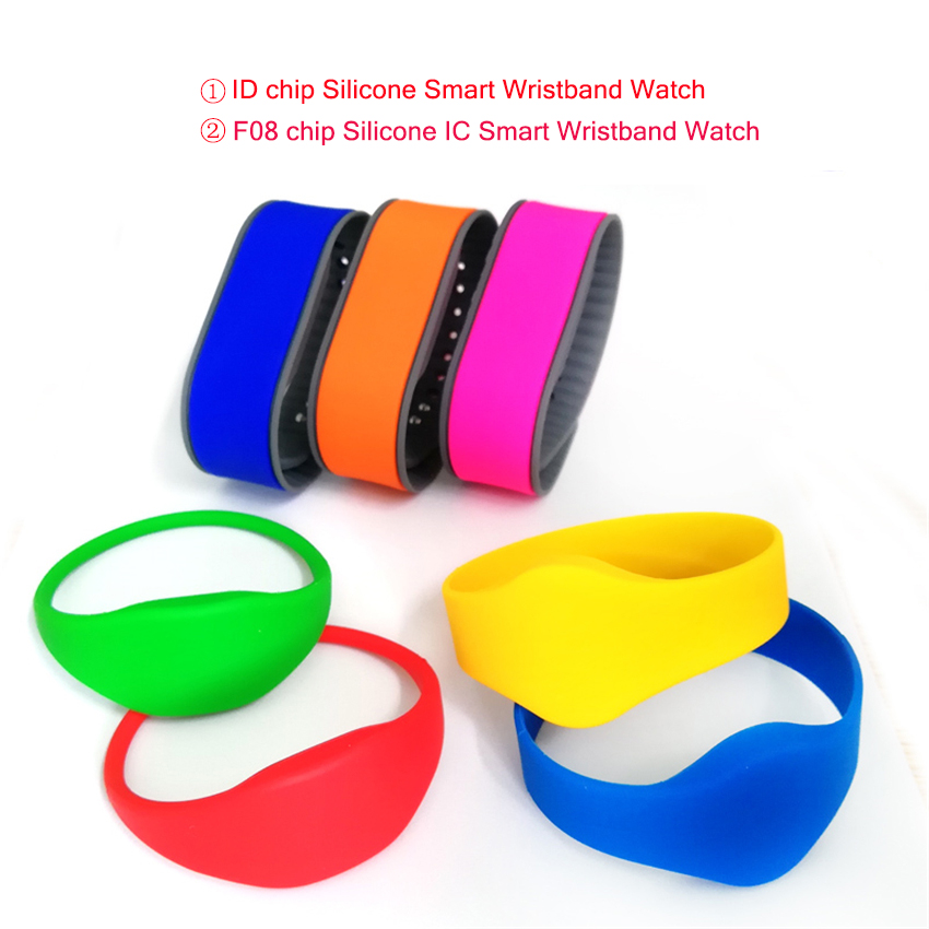1PC RFID Deep Waterproof Closed/Adjustable Smart Wristband, Access Control Card Wrist Band Bracelet Tag, Can Be Customized LOGO